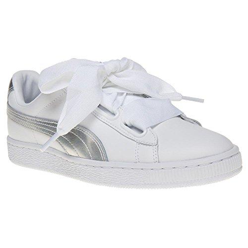 Puma Basket Heart Explosive Donna Sneaker Bianco