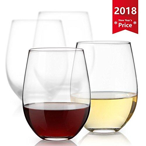 Sweese Weinglas set - 530ml Rotweinglas mit Hoher Kapazität, 4 Sets,wie Wein Gläser , Weißweingläser, Champagner Glas, Whiskygläser, Cocktailgläser, Saftglas, Trinkglas, - Charms Halloween Glas