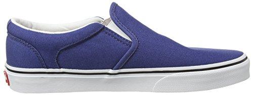 Vans M ASHER, Sneakers basses homme Bleu - Blau ((Canvas) stv navy/white)