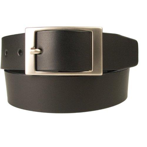 Belt Designs 0004-35-BLK-M - Noir - Largeur: 3.5 cm - Ceinture en cuir de qualité pour Homme - Fabriqué au Royaume-Uni - Taille 86.5-96.5 cm (M)