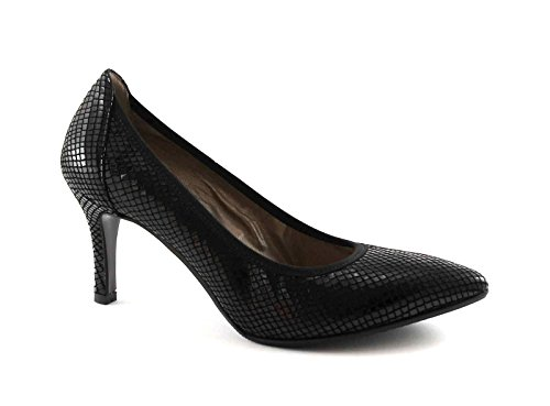MELLUSO D5101V nero scarpe donna decolletè elasticizzato punta tacco Nero