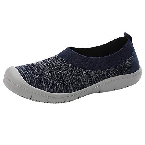 Vimoli Schuhe Damen Mode Gute Wanderschuhe Damen Slip-On Pumps Fashion Sneakers Casual Flexible Socken Schuhe Laufsportschuhe Schuhe(Blau,35 EU)