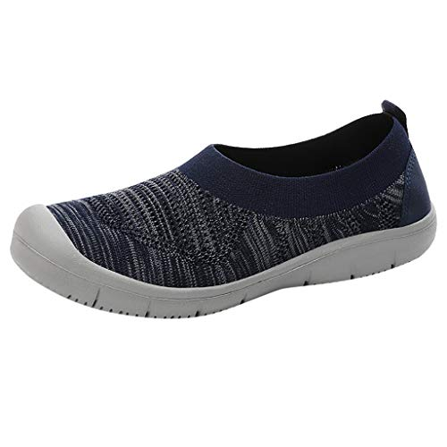 NMERWT Damen Sneakers Wanderschuhe Outdoor Schuhe Freizeit Frauen Slip-On Pumps Fashion Sneakers Casual Atmungsaktiv Mesh Flexible Socken Schuhe -