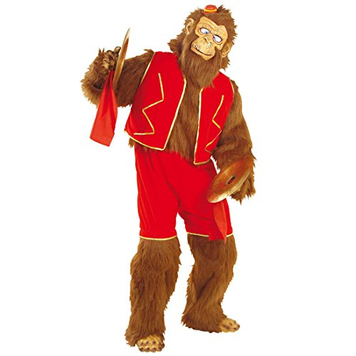 Affenkostüm Zirkus Affe Kostüm aus Plüschfell Zirkusaffe Plüschkostüm Affen Ganzkörperkostüm Plüsch Tierkostüm Zoo Faschingskostüm Damen (Kostüme Plüsch Affe)