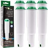 6x FilterLogic CFL-801B - Filterpatrone ersetzt Jura Claris WHITE 60209 / 68739 / 62911 Wasserfilter für Jura Kaffeemaschine / Kaffeevollautomat - Baujahr bis 10-2009 - Steck Filterkartusche