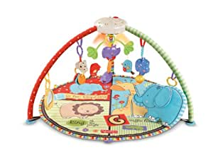 Fisher price luv u zoo deluxe musical mobile gym amazon - Tapis d eveil fisher price zoo deluxe ...