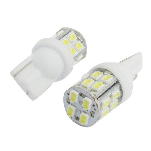 sourcingmap 2x Blanc 1206 SMD 20 LED T10 W5W 194 168 192 Ampoules de Tableau de bord de voiture interne