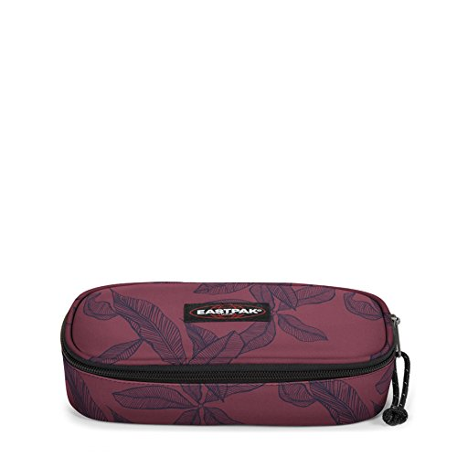 Eastpak Oval Single Trousse, 22 cm, Rouge (Leaves Merlot)