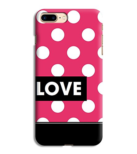 Printvisa Love Quote White Dot Pink Designer Printed Hard Back Case For Apple iPhone 8+ :: iPhone 8 Plus