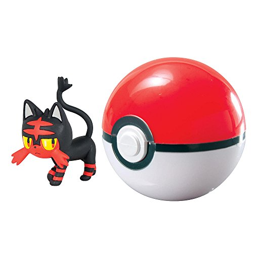 Pokemon LITTEN con POKE BALL Clip 'n' Carry SET Figura e Pokeball