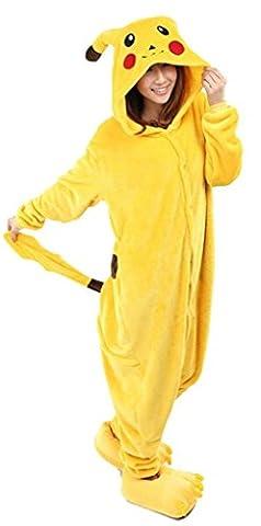 Meilleur Costume Pikachu - Renee Pikachu animal Pyjama Cospaly Party Fleece