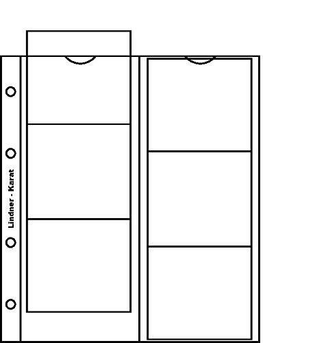 Lindner K1R karat-Münzblätter inkl. Zwischenblatt rot-5er- Packung