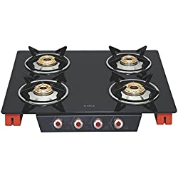 Elica Glass 4 Burner Gas Stove (SPACE ICT 460 ORG S)
