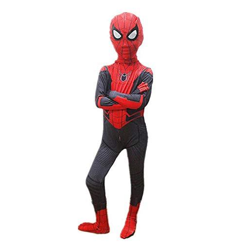 KOUYNHK Kinder Jungen Spider-Man Homecoming Kostüm Kinder Spiderman Spandex Zentai Anzug Superheld Cosplay Halloween Weihnachten Outfit,Child-L
