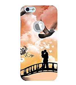 Vizagbeats Couple in Romance Back Case Cover for Apple iPhone 6 logo cut