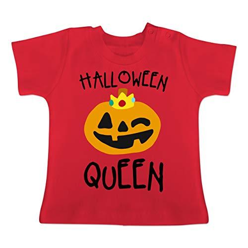 (Anlässe Baby - Halloween Queen Kostüm - 3-6 Monate - Rot - BZ02 - Baby T-Shirt Kurzarm)