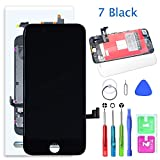 TABTABD Schwarz Ersatz Bildschirm Kompatibe für iPhone 7 LCD Display 4.7 '' Digitizer Glas Touchscreen mit Repair Werkzeuge Set
