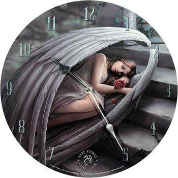 Orologio Sweet Sorrow by Anne Stokes, stile gotico, decorazione: angelo