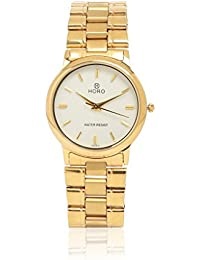 Horo(Imported) Chain Gold Plated Steel Round Wrist Watch 35X32mm