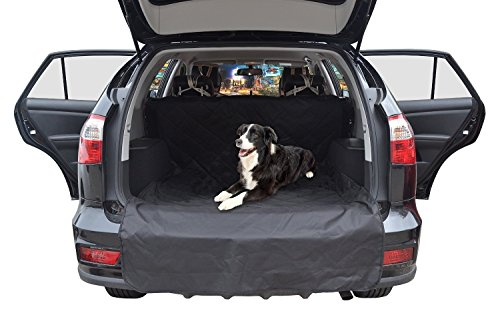Pettom Water Resistant Car Boot Liner Protector, Nonslip Durable SUV Trunk Cargo Liner For Pets, Washable Dog Car Seat Cover