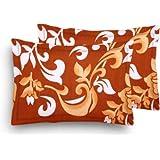 HOME ELITE Poly Cotton 104 TC Pillow Cover, Standard, Multicolour, 2 Pieces (PCC129)