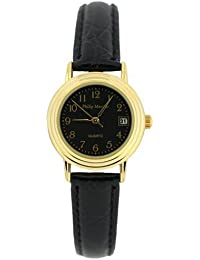 watches philip mercier watches for men and women philip mercier ladies black dial easy strap watch sml01 b b000pd3jri
