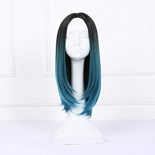 Littlefairy Lebensechte Lange Haare Platin Gradient Pink Split Stil Haare Schweif Mikro-Locken natürliche gefälschte ()