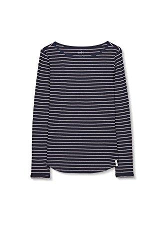 edc by Esprit 106cc1k052, T-Shirt Femme Bleu (Navy)