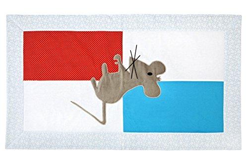 Preisvergleich Produktbild Igolo Multifunktions-Fußmatte, Motiv Maus, Grau