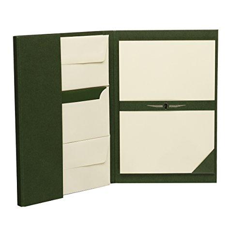 - Paper Royal - Briefpapiermappe DIN A4/DL, 25/25, grün/chamois gerippt ()