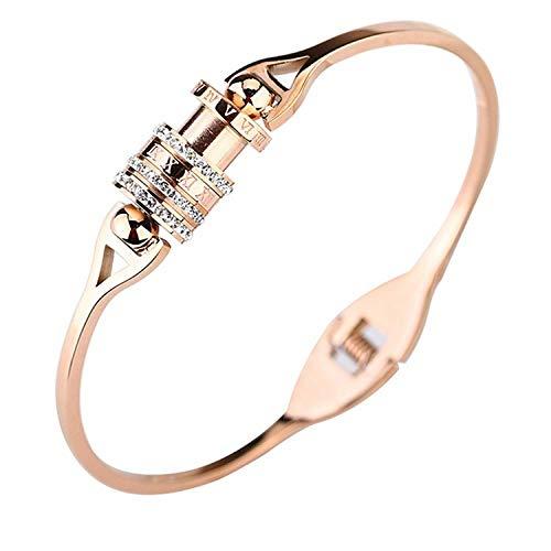 Armbänder Armband Roségold Armband Mode-Stil Titanium Stahl Roman Digital Rotierenden Diamanten Armband (Glass-schmuck Roman)