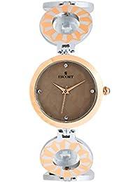 Escort Analog Brown Dial Women's Watch-4528 RTM
