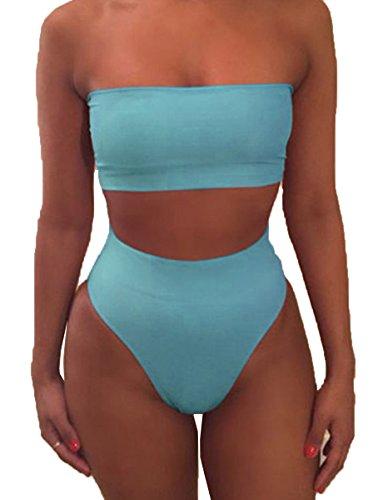 womens-strapless-bandeau-bikini-set-two-pieces-padded-swimsuit-swimwear-beachwearbikini-s-sky-blue