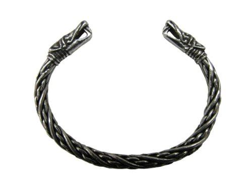 Replik Nickels (Wikinger Drachenkopf Armreif (klein) - Zierliches Armband)