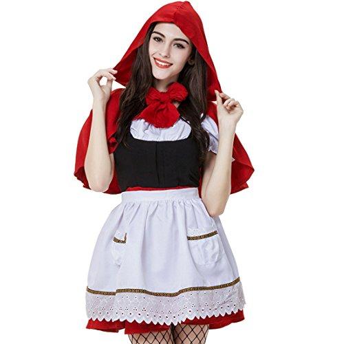 Honeystore Damen's Halloween Kostüm Damen Ankleiden Rotkäppchen Party Kostüm-Erwachsene / Frauen (Robin Kostüme Und Batman Paar)
