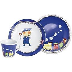 Kahla Abenteuer - Juego de taza y platos (3 piezas), diseño infantil