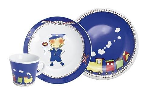 Kahla Abenteuer Express Ensemble de vaisselle 3 pièces pour enfants