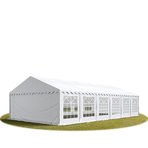 Pabellón de jardín, 3x 3–6x 12m, de PVC, impermeable, correas de goma