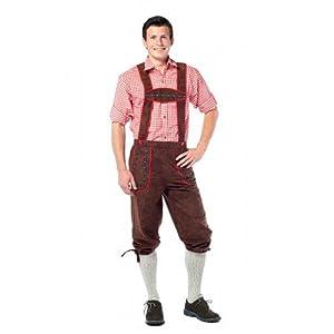 Tannhäuser Tann Casas 7262174Franz Largo Piel Pantalones, Color marrón Oscuro, M