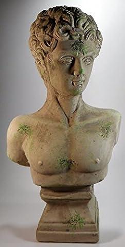 Männerbüste patina 31 x 17 cm Mann Büste Figur Wohnen