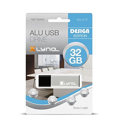 XLYNE 32GB USB-Stick 2.0 ALU High Speed, Design Flash Laufwerk