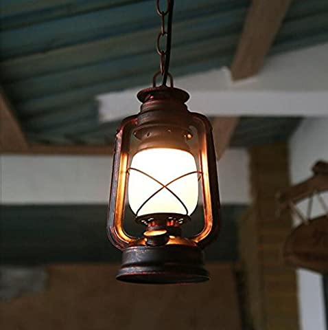 Kerosene Lamp, Old Horse Lights Chinese Style Old Oil Lamp Retro Antique Bar Cafe Balcony Iron Chandelier ( Size : 140*800mm