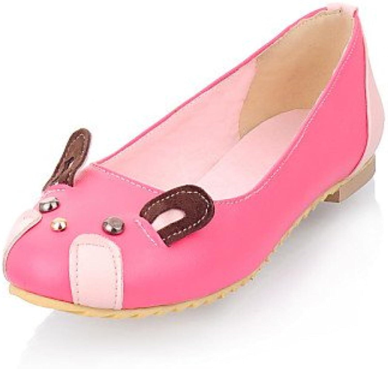 PDX/Damen Schuhe flach Absatz Mokassin/Runde Zehen Wohnungen Casual Pink/Rot/Grau/Beige