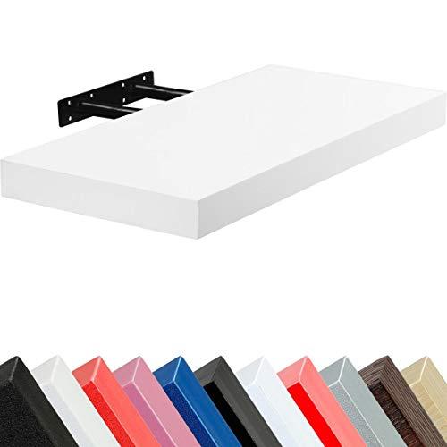 Stilista ® Tableau «volato freischwebend'épaisseur 3,8 cm-Couleurs 11 cm, Longueur 50 cm, 70 cm, 90 cm, 110 cm, Blanc, 50 cm