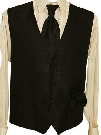 MASTERHAND pour homme avec gilet festif cravate chiffon cuivre w4 taille 56 (noir)