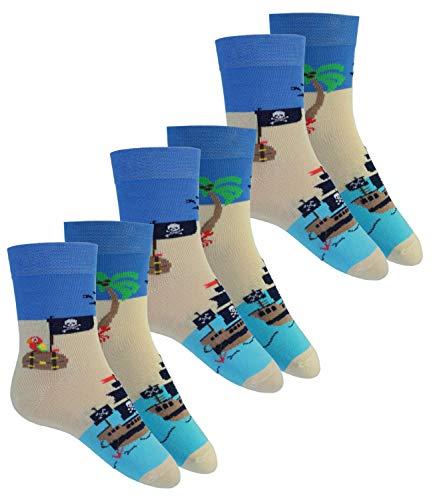 EveryKid Ewers 3er Pack Jungensocken Sparpack Markensocken Socken Strümpfe Söckchen Kleinkind ganzjährig für Kinder (EW-201137-S19-JU0-3x1221-27/30) in 3er Azur, Größe 27/30 inkl Fashionguide