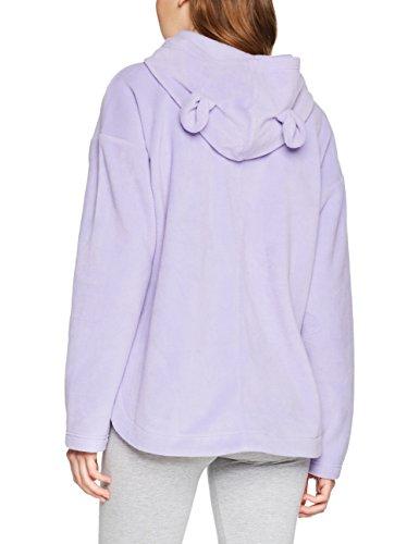 Iris & Lilly Damen Fleece Hoodie mit Örchen Violett (Violet Tulip)