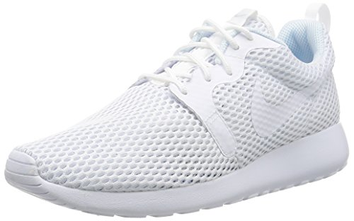 Nike Damen Roshe One Hyperfuse BR Laufschuhe, Weiß (White/White/Pure Platinum), 39 EU (Tops Nike Laufschuhe High)