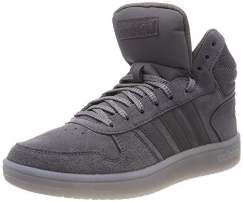 adidas Herren Hoops 2.0 Mid Gymnastikschuhe, Grau (Grey Five F17/Grey Three F17), 45 1/3 EU