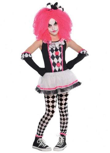 B-Creative Kids Halloween Pink Killer Clown Girl Kostüm (XL 12-14 Y/O)